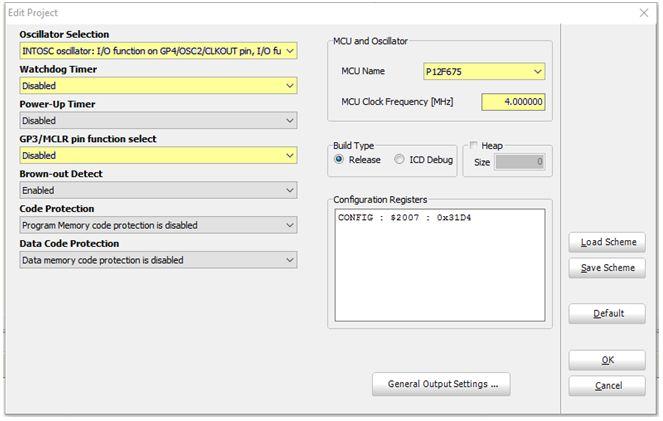برمجة العائلة PIC12F6XX والمترجم ميكروسى يرو  : 119