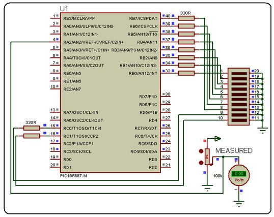 مراجعة وحدة (موديول)  المحول من تناظرى لرقمى A/D converter module 519