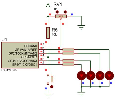 مشروع أضواء مبرمجة متحركة بعدة نماذج والميكروكونترولر PIC12F675  Fig110