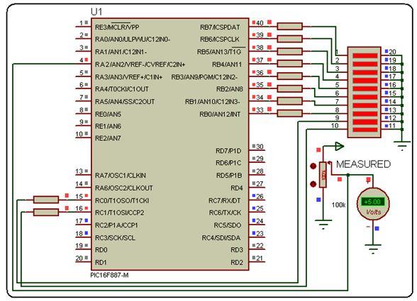 مراجعة وحدة (موديول)  المحول من تناظرى لرقمى A/D converter module Newpic10