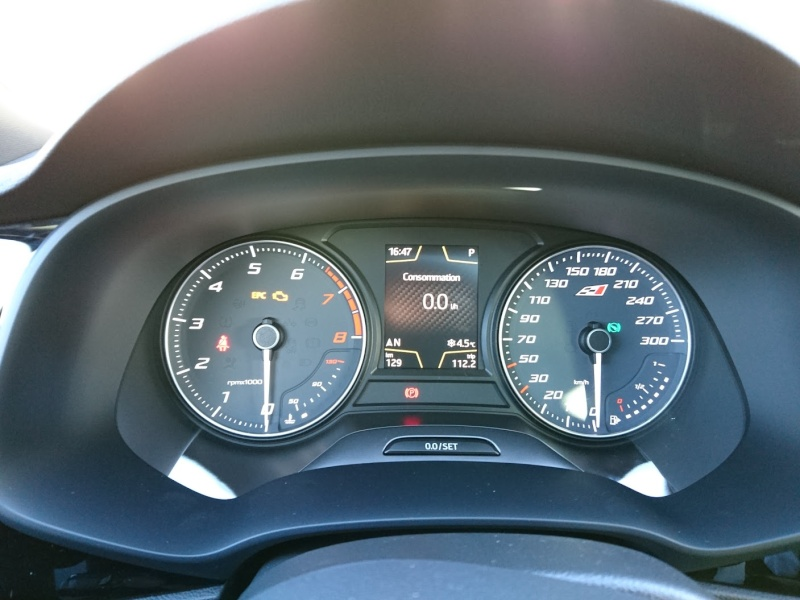 Seat Leon Cupra 280 - DSG6 - Gris Pyrénéen  Instru10