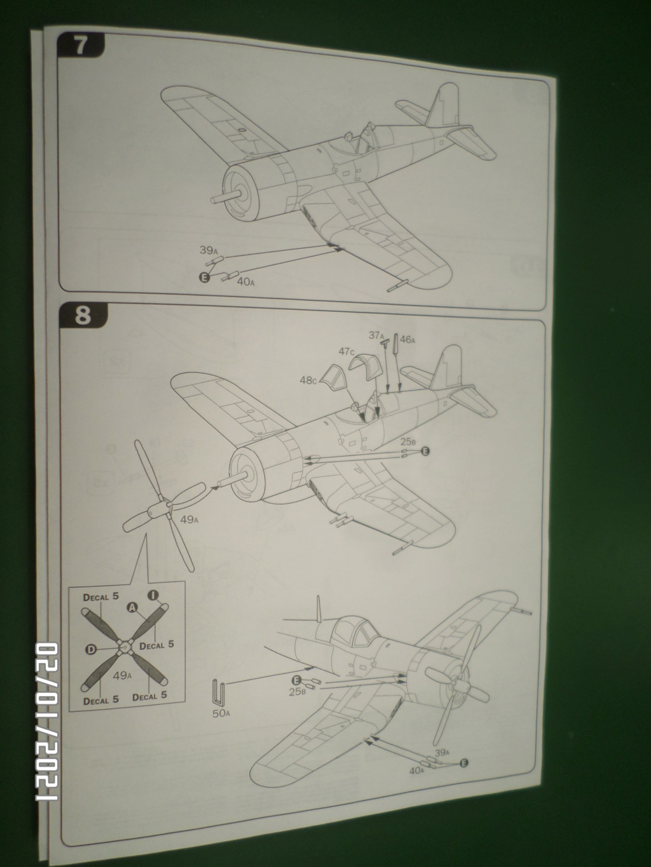 [ ITALERI ]  Chance Vough  F4U-7   Corsair  Sam_3116