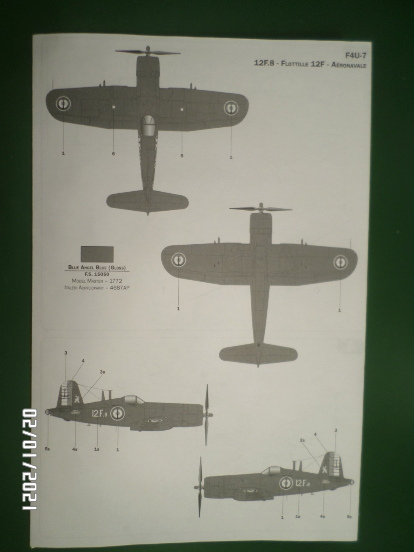 [ ITALERI ]  Chance Vough  F4U-7   Corsair  Sam_3121