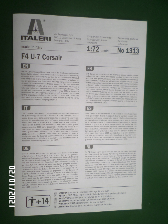 [ ITALERI ]  Chance Vough  F4U-7   Corsair  Sam_3124
