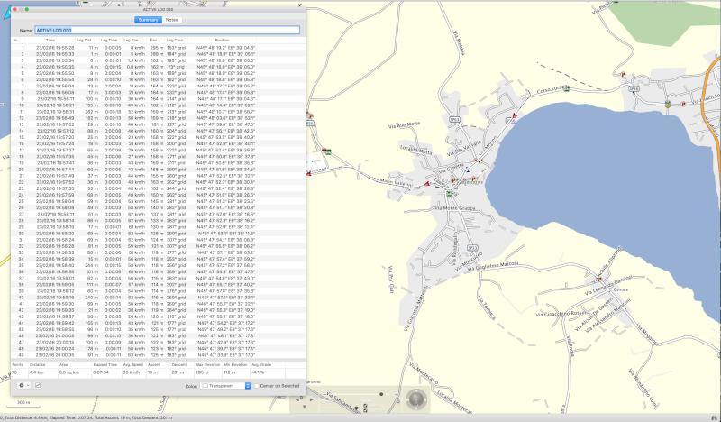 Horodatage trace mémoire GPS Etrex Vista Hcx Screen10