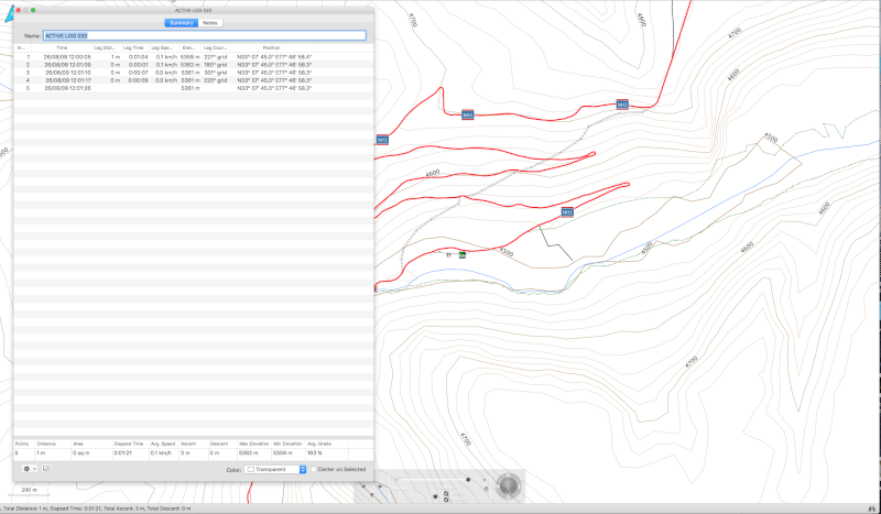Horodatage trace mémoire GPS Etrex Vista Hcx Screen11