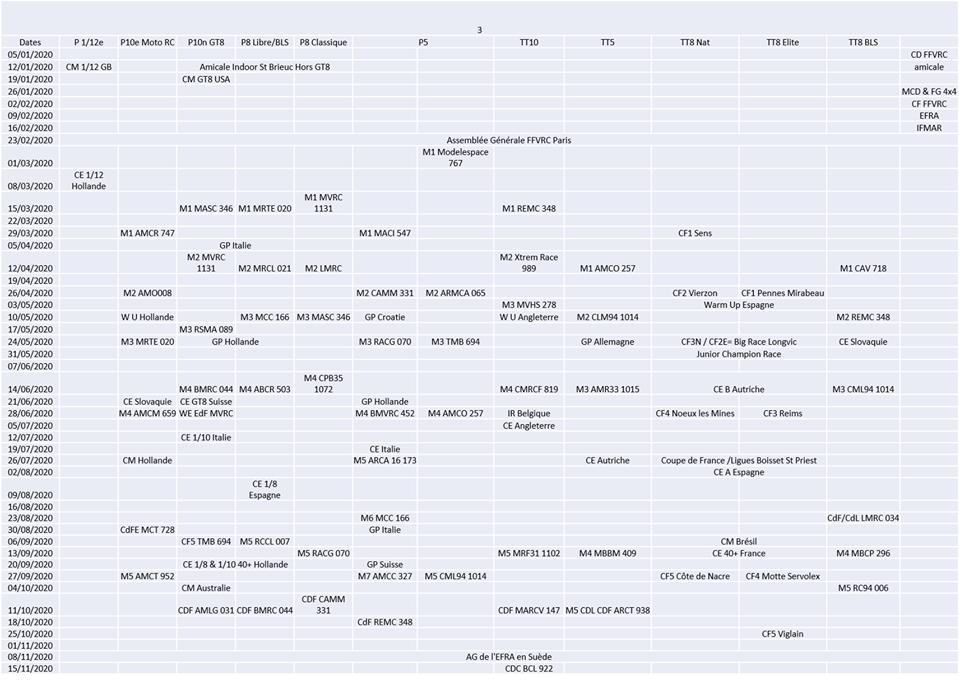 calendrier - Calendrier Fédéral pour 2020 Calend10