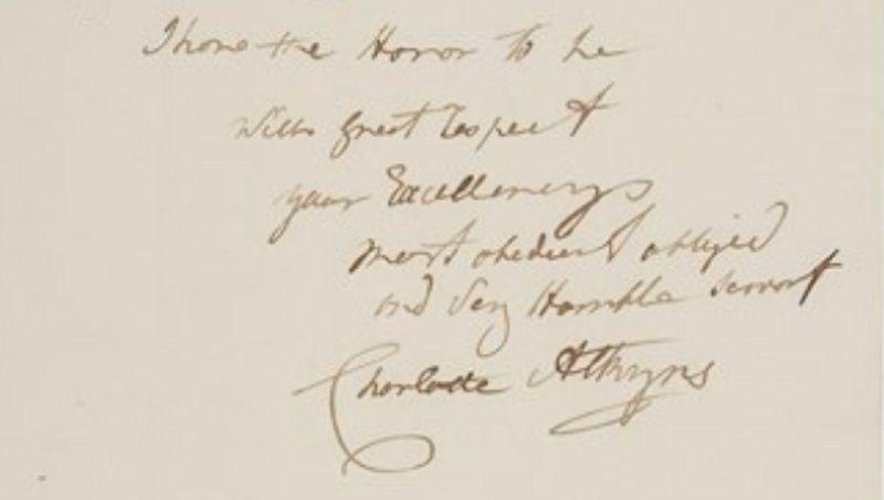 Correspondance de Charlotte Atkyns (Atkins) Tylych12