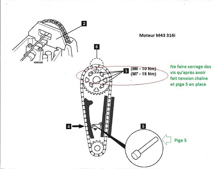 bmw e36 316i m43 an 1998   mod u00e8le de culasse et calage