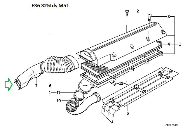 [ BMW E36 325 tds M51 ] Modifier l'admission ( Résolu ) 13_e3610