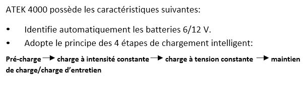 alimentation électrique monture (batterie voiture) + chargeur Bat. 210