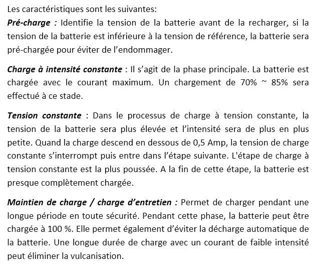 alimentation électrique monture (batterie voiture) + chargeur Bat. 410