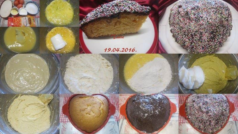 Gâteau crème Amandine.nappage chocolat. 10155813