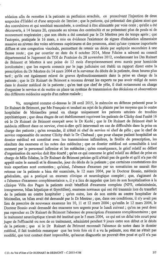jugement ODM-Ruinart affaire Edaine 2
