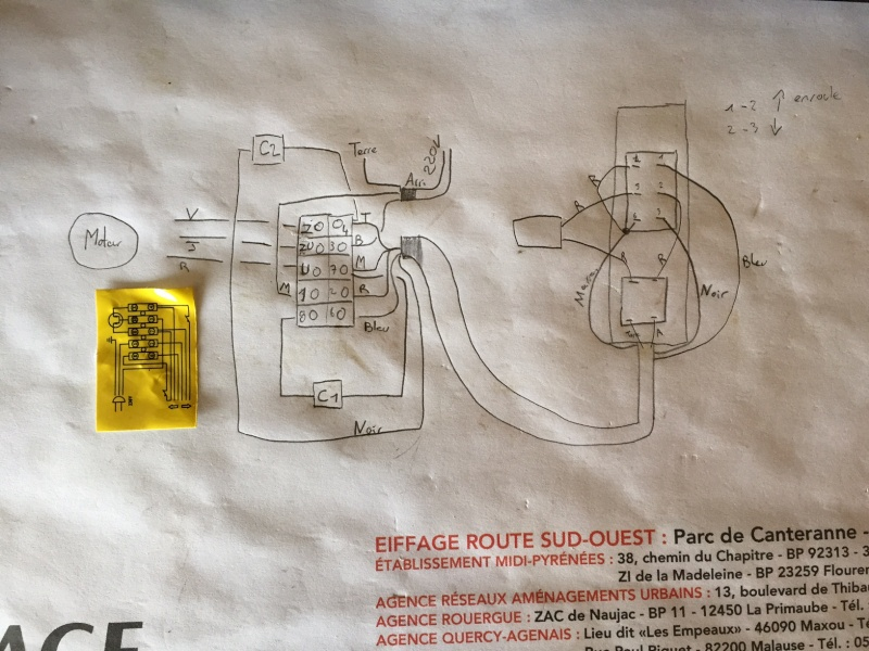 mettre une telecommande radio sur un treuil 220 avec commande a fil Schema12
