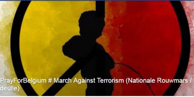 Une marche contre le terrorisme à Bruxelles 56f25010