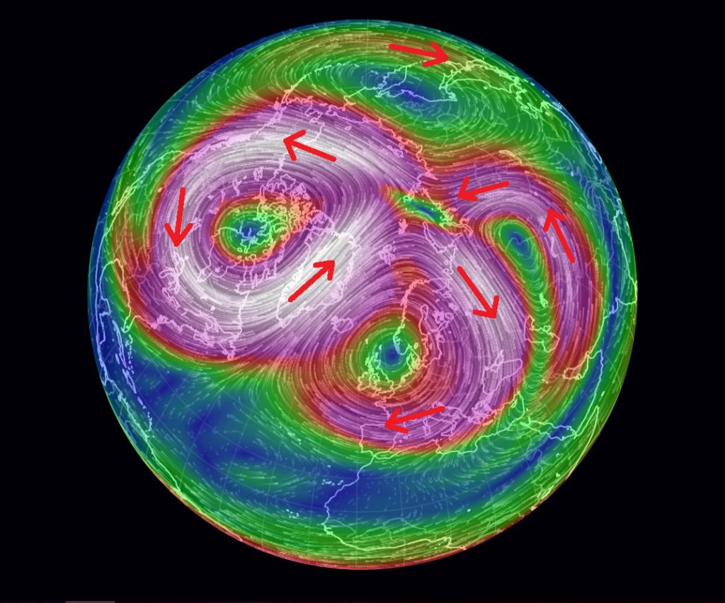 Un 2ième réchauffement stratosphérique (RSS²) a été observé  avec le maximum atteint le 6 janvier 2019. Aaa10