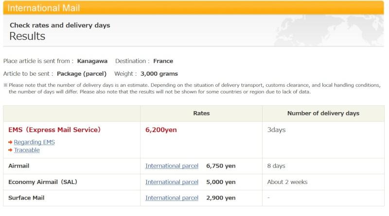 help : besoin d'un avis pour les frais de port en direct japon Postja11