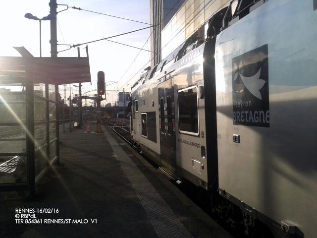 """""""Ambiance gare de Rennes  16 février 2016"""" 2016-013"""