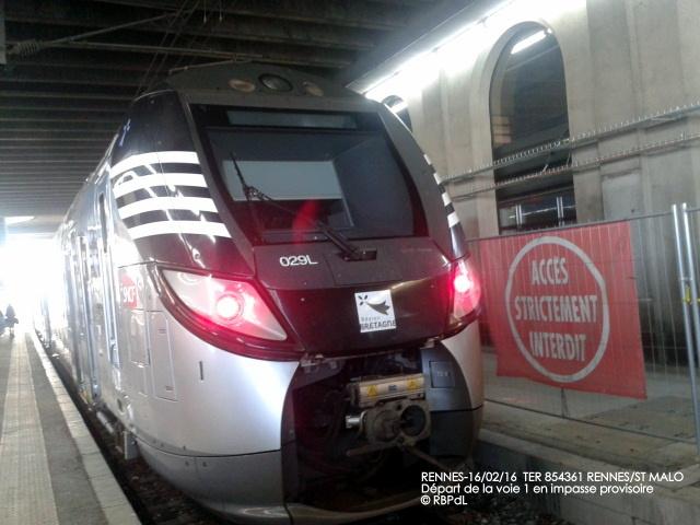 """""""Ambiance gare de Rennes  16 février 2016"""" 2016-014"""
