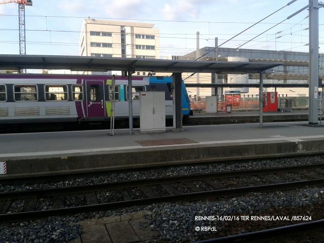 """""""Ambiance gare de Rennes  16 février 2016"""" 2016-020"""