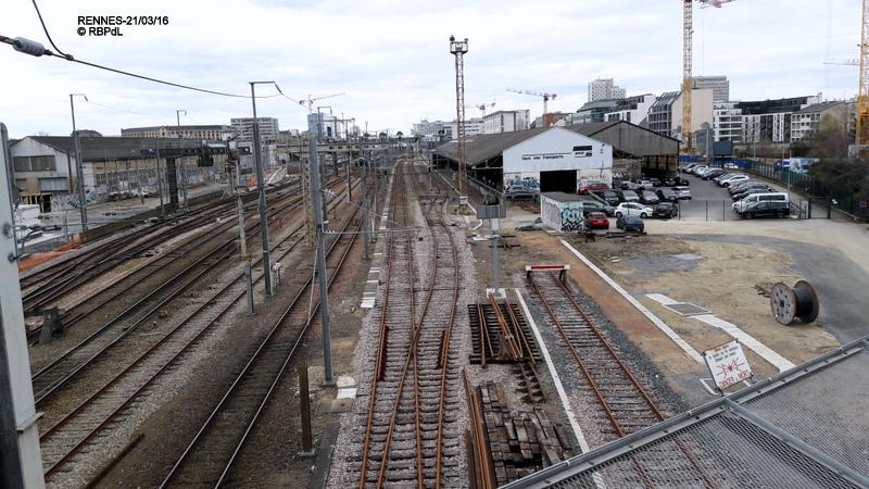 RENNES : état plan de voies côté Pont St Hélier 21/03/2016 20160324