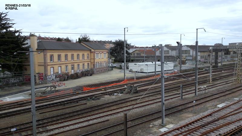 RENNES : état plan de voies côté Pont St Hélier 21/03/2016 20160325