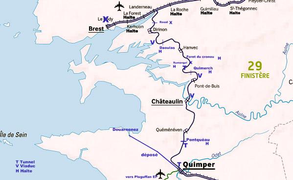 HORAIRE BREST-QUIMPER HIVER 1975/76 Ligne211