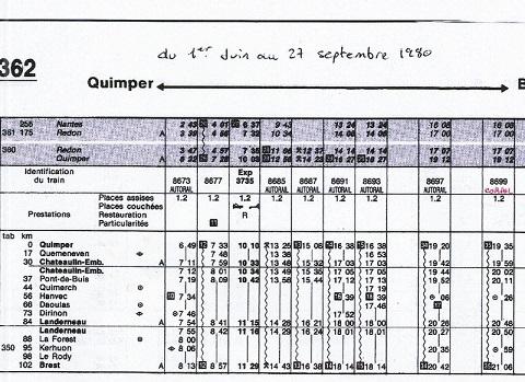 HORAIRES BREST-QUIMPER ETE 1980 Scan-026