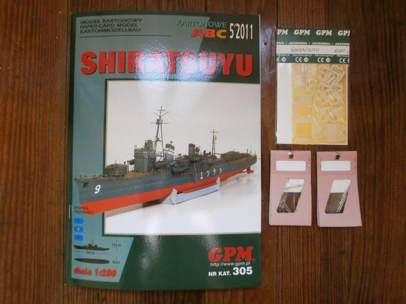IJN SHIRATSUYU paper-card model au 1/200 de GPM P2260013