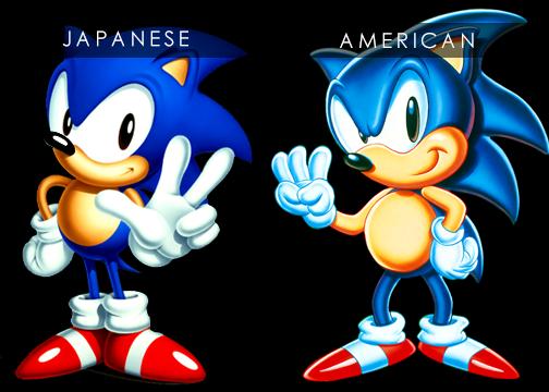 Japanese vs American Classic Sonic 111