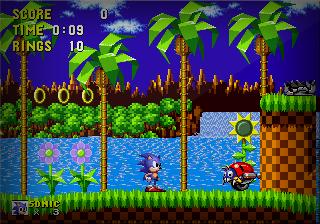 Sonic The Hedgehog 1 [Genesis] Ghz10