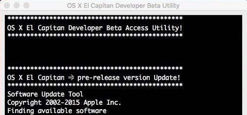 OS X El Capitan Developer Beta Utility.app 1_tiff15