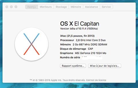 OS X El Capitan Developer Beta Utility.app A11
