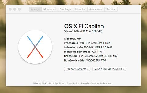 OS X El Capitan Developer Beta Utility.app X10