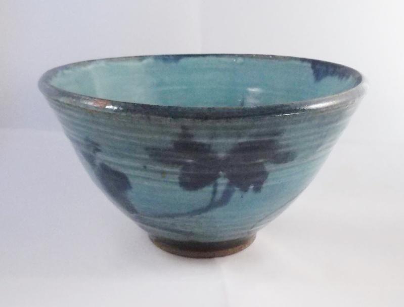 Unmarked Blue Glaze Stoneware Bowl Dscf6218