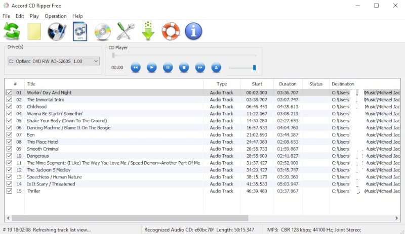 Accord CD Ripper Free 6.9.1 110010