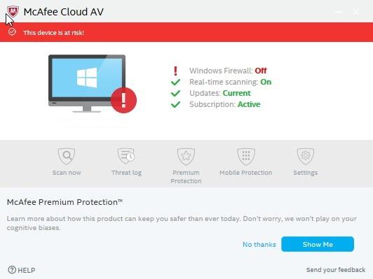 McAfee Cloud AV 0.5.344.1 - Antivirus της Intel 281