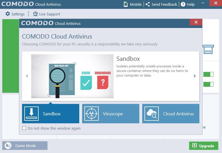 Comodo Cloud Antivirus 1.21 Build 465847.842 358