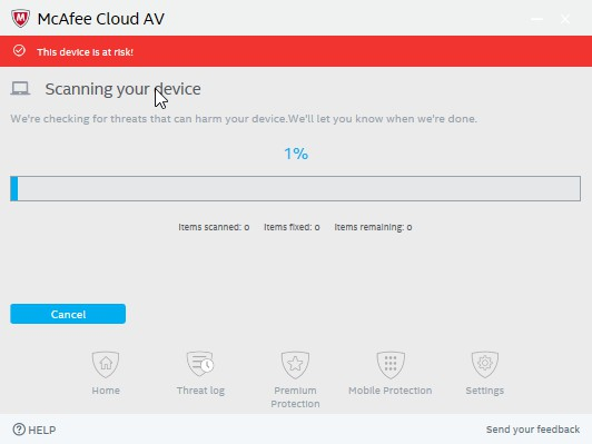 McAfee Cloud AV 0.5.344.1 - Antivirus της Intel 362