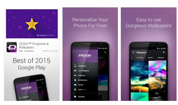 Apple iOS: Windows Phone: Android:  ZEDGE Ringtones & Wallpapers 1.0.19.76 430