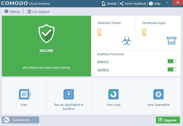 Comodo Cloud Antivirus 1.21 Build 465847.842 447