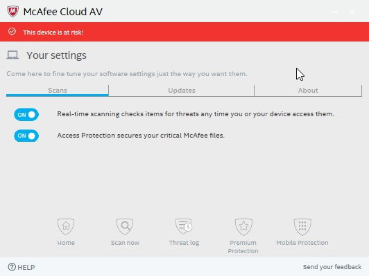 McAfee Cloud AV 0.5.344.1 - Antivirus της Intel 551