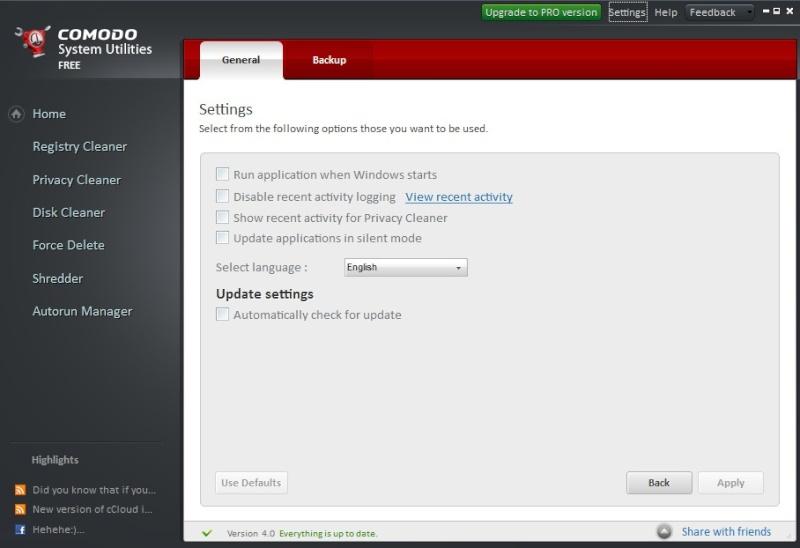 Comodo System Utilities Free 4.0.226743.26 725