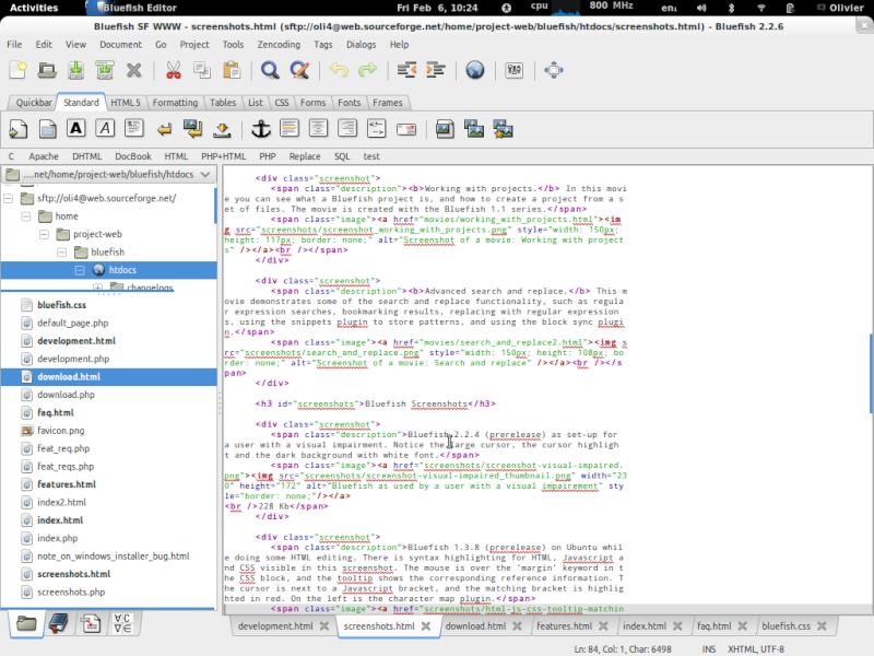 Bluefish 2.2.9 - Επεξεργαστής κειμένου για προγραμματιστές και web designers Bluefi10