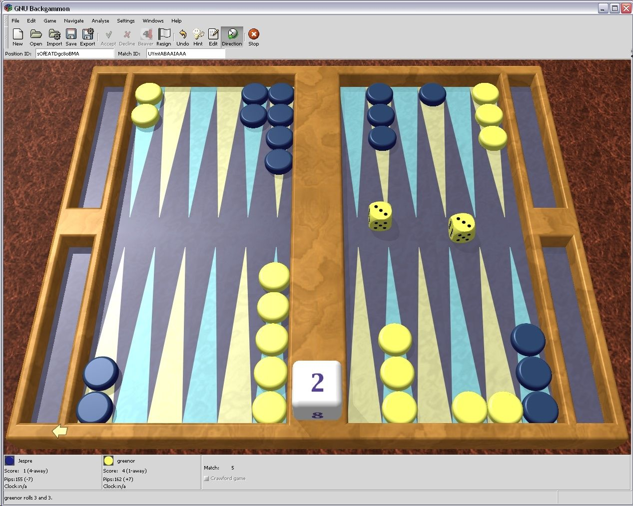 GNU Backgammon 1.06.002 - Παίξτε τάβλι Gnubg_10