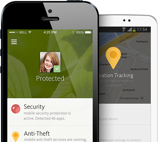 Apple iOS: Android: Avira Mobile Security Phones10