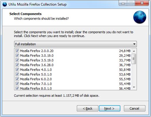 Utilu Mozilla Firefox Collection 1.1.8.9 - Όλες εκδόσεις του Mozilla Firefox Utilum10