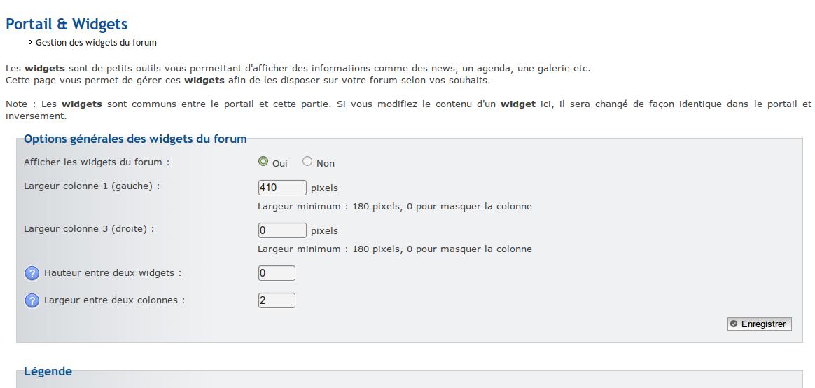 fa_toolbar - Widgets simplement sur la page d'accueil du forum Screen25