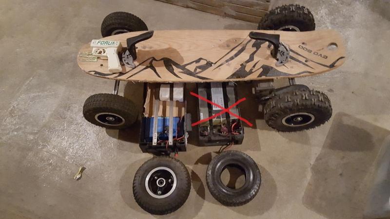 vente de mon skate EVO 1000w batterie lithium avec kit EKO 20160310